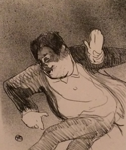 Lautrec image - comic actor